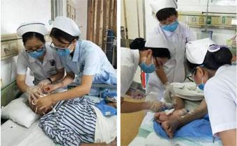 老人久病卧床生褥疮 ——茂名石化医院上门服务感动病患家人